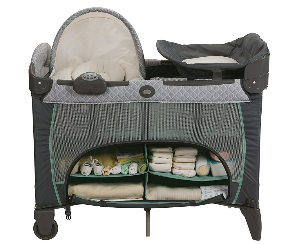 GRACO PLAYARD PACK N PLAY WITH DLX NEWBORN NAPPERSTATION