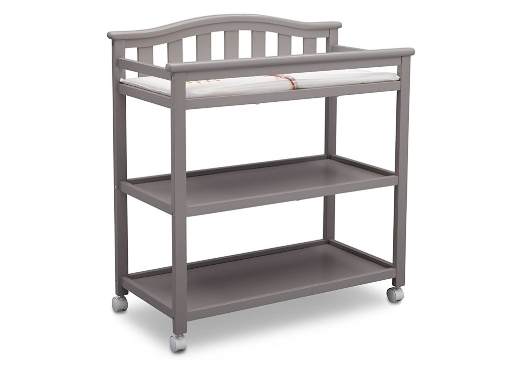 Delta Children Bell Top Changing Table with Casters, Grey review