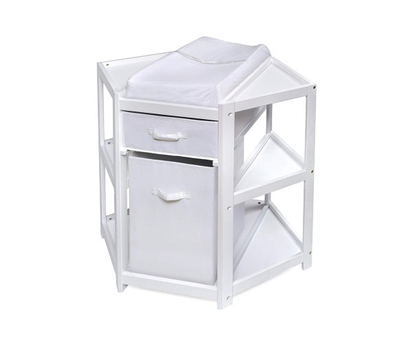Badger Basket Diaper Corner Changing Table - best corner changing table
