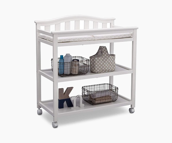 3. Delta Children Bell Top Changing Table - basic and mobile