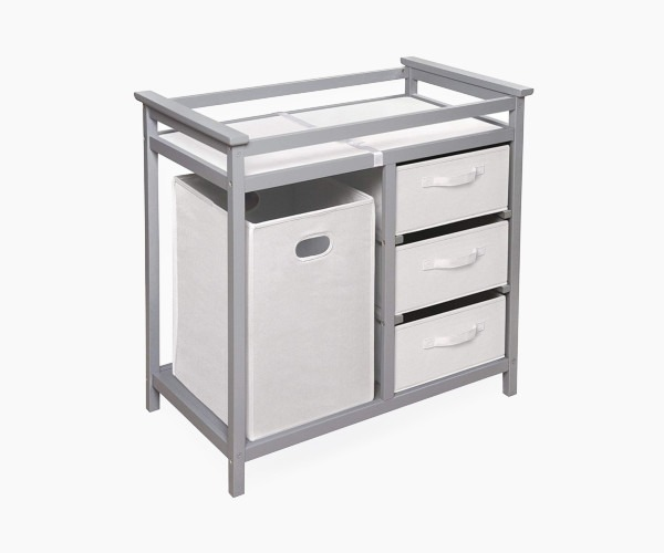 Badger Basket Modern Changing Table - if storage is important for you