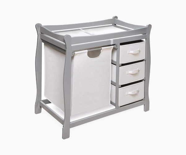 Badger Basket Sleigh Style Changing Table - if storage is what you're after