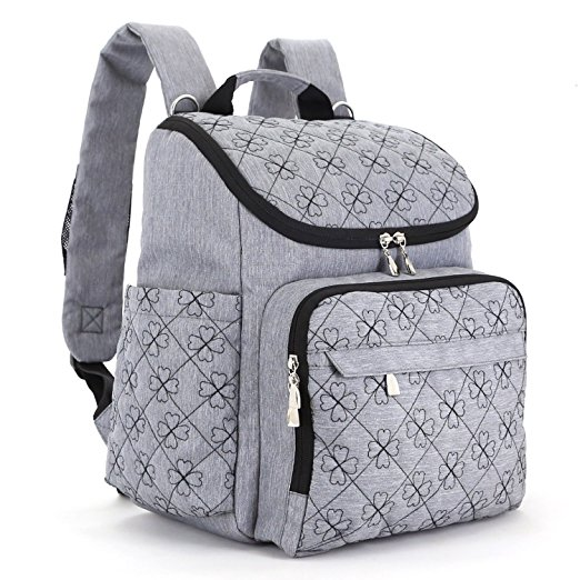 Baby Diaper Bag Backpack with Stroller Straps