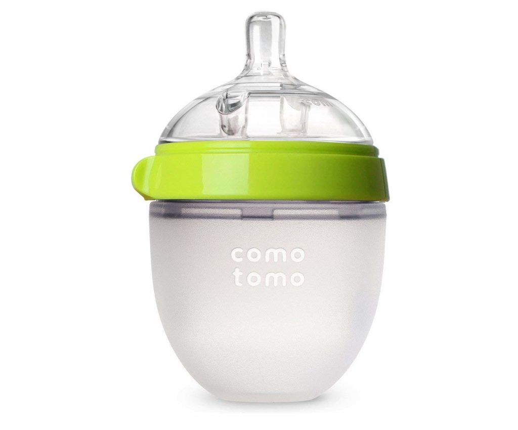 Comotomo Natural Feel Baby Bottle, Green, 5 Ounces
