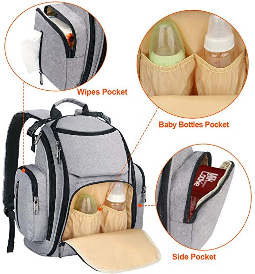 baby diaper bag storage pocket