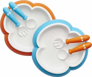 BABY BJORN BABY PLATE, SPOON AND FORK SET; 2 Pack