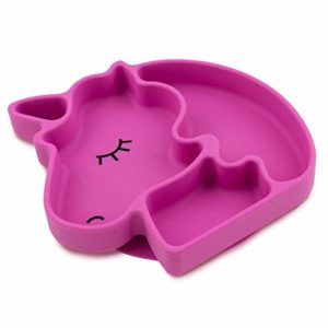 BUMBKINS SILICONE GRIP DISH, SUCTION DIVIDED PLATE