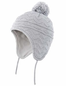 Connectyle Toddler Boys Girls Fleece Lined Knit Kids Hat with Earflap Winter Hat, best baby winter hat
