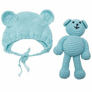 ECYC Newborn Baby Bear Hat Beanie With Bear Dolls Photography accessories, best baby hat for winter