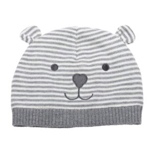 Eriso Unisex Baby Striped Bear Cap Soft Knitted Beanie Newborn Hat, best baby winter hat