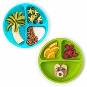 HIPPYPOTAMUS SILICONE DIVIDED PLATES FOR TODDLERS
