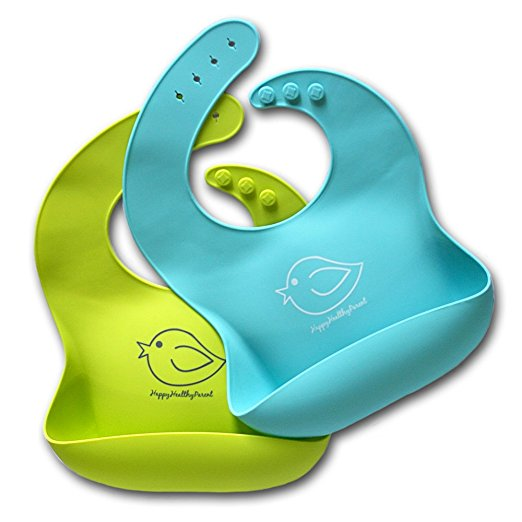Happy Healthy Parent Water Proof Silicone Bib