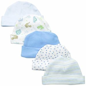 Spasilk Baby-Boys Newborn 5 Pack Cotton Hats, best winter baby hats