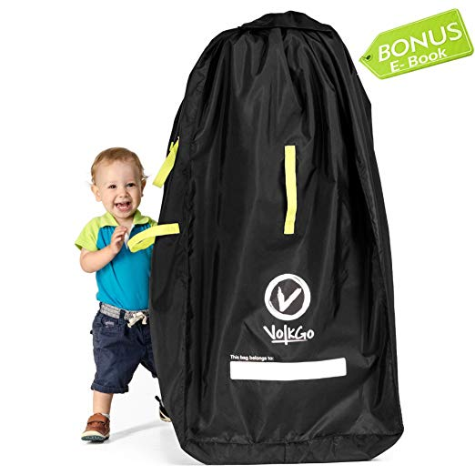 VolkGo Durable Stroller Bag for Airplane - Standard or Double/Dual Stroller Gate Check Bag