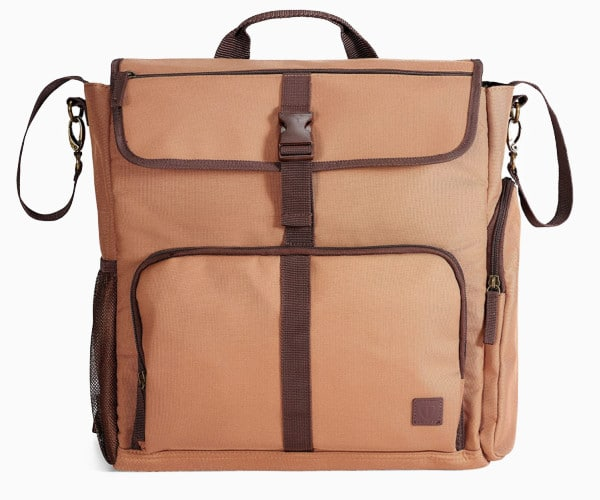 4. Caramel Convertible Backpack+ from Diaper Dude