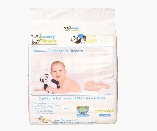 Andy Pandy - Premium Bamboo Disposable Diapers