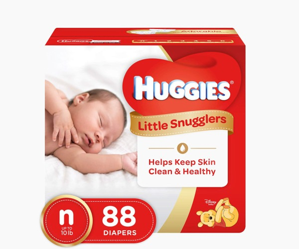 HUGGIES - Little Snugglers Size Newborn Baby Diapers