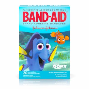 Band-Aid Brand Adhesive Bandages, Disney/Pixar Finding Dory Characters, Assorted Sizes, 20 ct