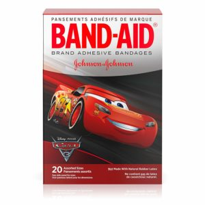 Band-Aid Brand Adhesive Bandages Featuring Disney-Pixar Cars For Kids, Assorted Sizes, 20 Count (Pack Of 6)