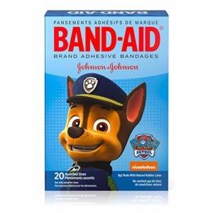 Band-Aid Brand Adhesive Bandages for Minor Cuts, Nickelodeon PAW Patrol, Assorted Sizes, 20 ct