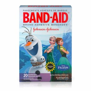 Band-Aid Brand Kids Adhesive Bandages for Minor Cuts & Scrapes, Disney Frozen, Assorted Sizes, 20 ct, (Pack of 6)
