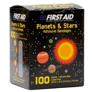 Derma Sciences Inc. - First Aid Children's Adhesive Bandages: Planets and Stars 100 Per Box