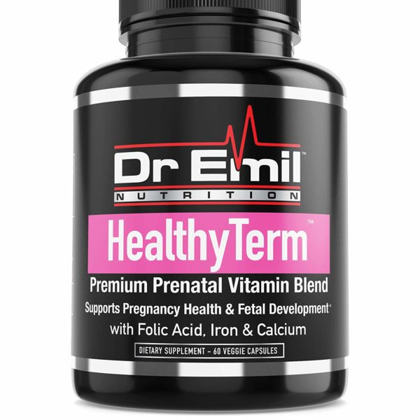 Dr. Emil - Prenatal Vitamins for Fetal & Pregnancy Health with Folic Acid, Iron, Calcium & Antioxidants