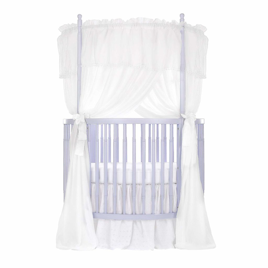 Dream On Me Sophia Posh Circular Crib, Lavender Ice