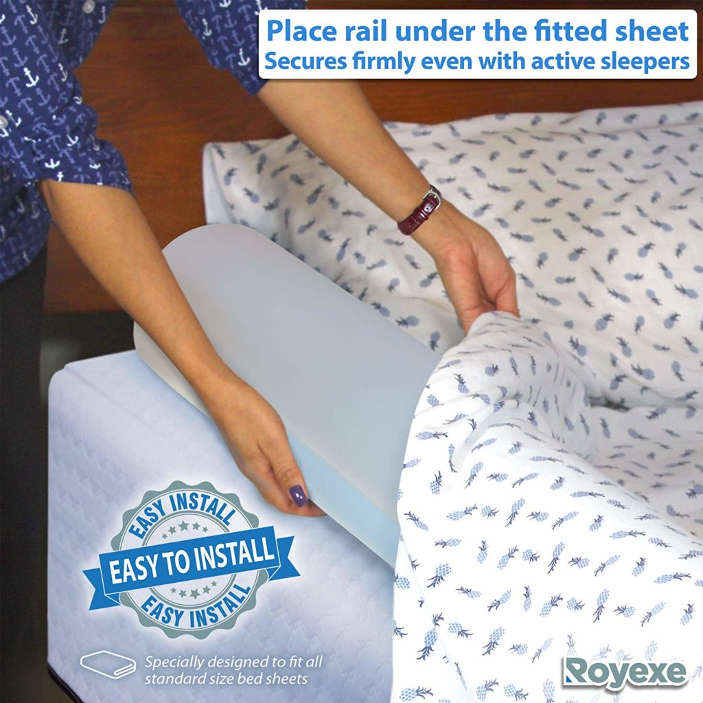 Royexe Toddler Inflatable Bed Rail