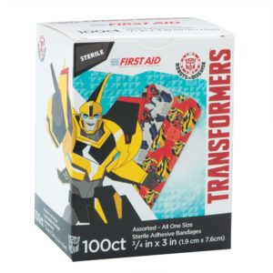 SmileMakers - Transformers Bandages - First Aid Supplies - 100 per Pack