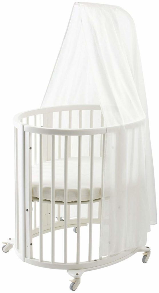 Stokke Sleepi Mini Crib Bundle with Mattress & Drape Rod