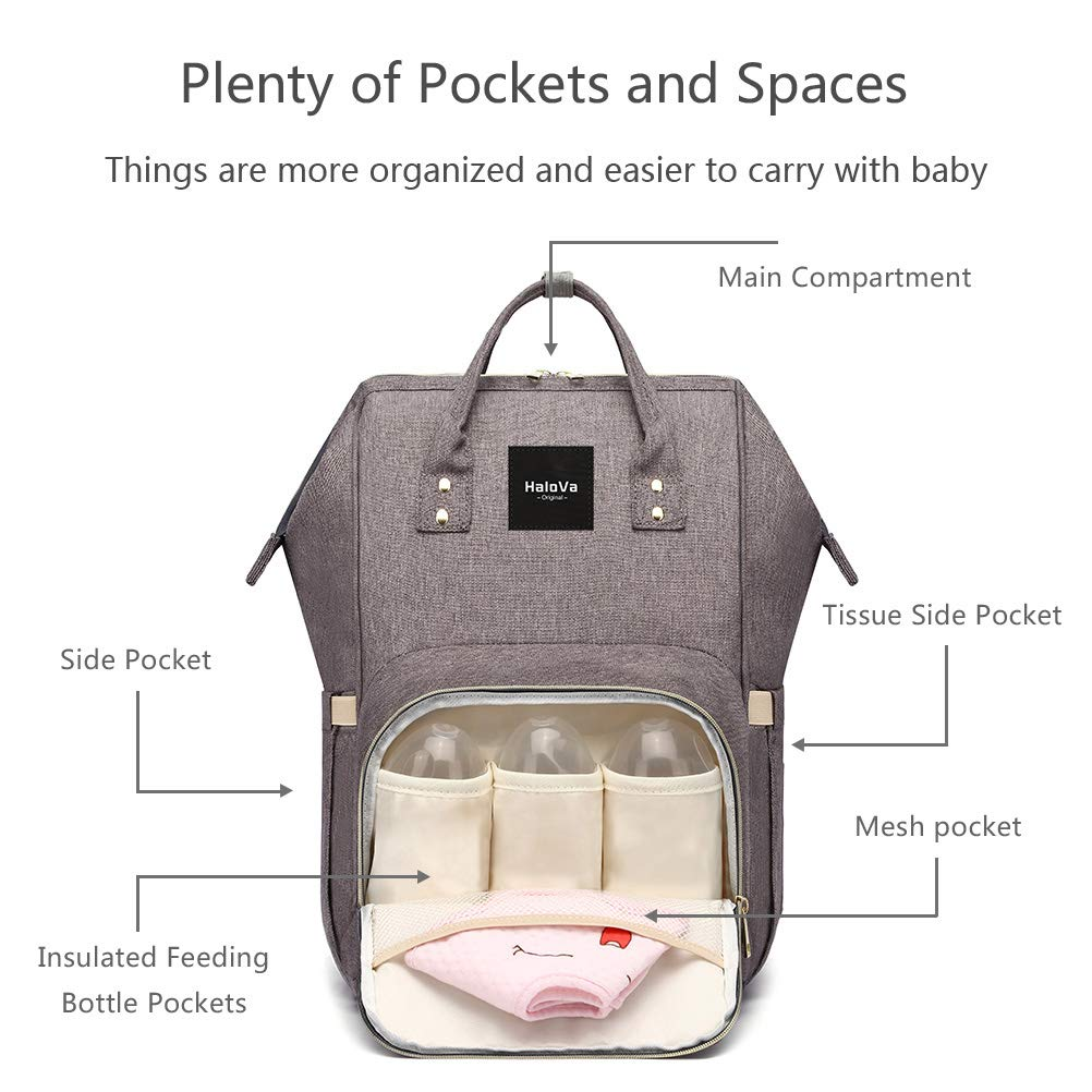Features of the Halova Diaper Bag Multi Function Waterproof Backpack