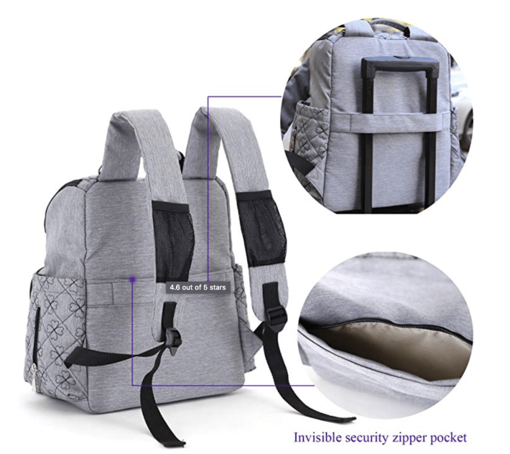 Features of the HYBLOM Diaper Bag Backpack